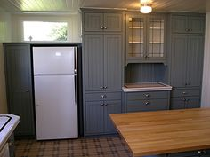 Blue Painted Cabinets