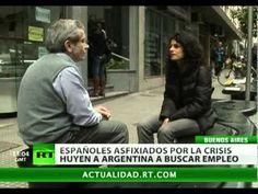 DICEN ADIÓS AL VIEJO CONTINENTE Y AL DESEMPLEO. ESPAÑOLES MIGRAN EN OLEADAS A ARGENTINA. La creciente tasa de desempleo en España (22%) hace que los españoles pongan la mirada en Latinoamérica. Argentina es uno de los países a donde llegan para encontrar un empleo que responda a sus exigencias. En la crisis económica de 2001 los argentinos hacían largas filas en las embajadas de España y de Italia para buscar en Europa la posibilidad de progreso.