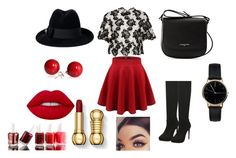 """""""#7896333"""" by eliza147 ❤ liked on Polyvore featuring Monique Lhuillier, Lancaster, Gucci, Freedom To Exist and Essie"""