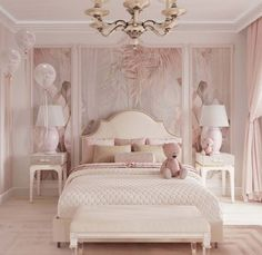 Luxury Bedroom Design, Room Design Bedroom, Girl Bedroom Designs, Room Ideas Bedroom, Home Room Design, Home Decor Bedroom, Luxury Kids Bedroom, Big Girl Bedrooms, Bedroom Decor For Teen Girls