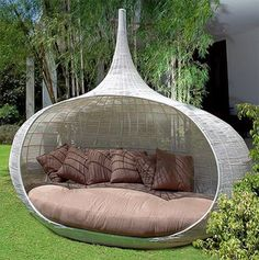Aww this outdoor bamboo furniture looks really awesome
