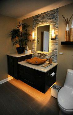 Bathroom Design Luxury, Modern Bathroom Design, Interior Design Kitchen, Modern Bathrooms, Small Bathrooms, Bathroom Designs, Bathroom Ideas, Zen Bathroom Decor, Restroom Design