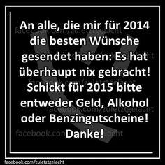 Besonders der Alkohol, der ist wichtig!