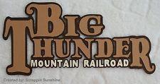 DISNEY BIG THUNDER MOUNTAIN RAILROAD Title Scrapbook Page Paper Piecing SSFFDeb