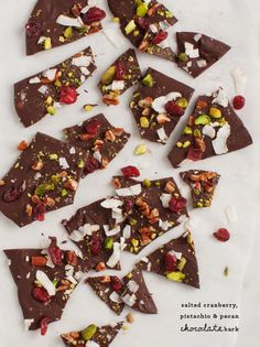 Looking to mix up your holiday cookies? How about some Cranberry & Pistachio Chocolate Bark? (Recipe from Love and Lemons)