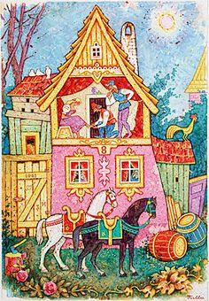 Ľudovít Fulla a úžitková grafika Illustrator, Fairy Tales, Nursery, Children, Book, Artist, Painting, Inspiration, Typography