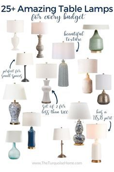 Let's talk about table lamps - what's a great lamp and how you can find one for your home. Find out how to buy the perfect lamp + 15 examples you'll love. Decorating Your Home, Diy Home Decor, Tall Table Lamps, Lamp Table, Console Table Styling, Recycled House, World Decor, Table Haute, Cheap Curtains