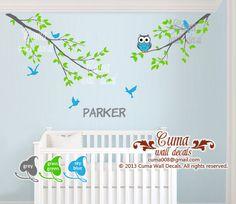 Custom orderBaby boy wall decal name wall decals nursery by cuma, $52.00