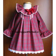 Vestido Eve escoces rojo