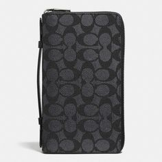 de8f9f17f9f2 COACH Double Zip Travel Organizer In Embossed Signature Canvas.  coach   bags  leather
