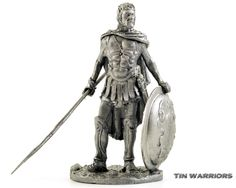 Greece. Odysseus King of Ithaca. Metal sculpture. Collection 54mm 1/32 miniature figurine. Tin toy soldiers shop by TinWarriors on Etsy https://www.etsy.com/listing/173712096/greece-odysseus-king-of-ithaca-metal