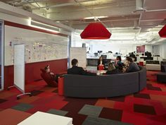 Kontour Lounge from Davis Furniture in the Golin Chicago offices - designed by TPG Architecture