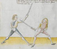 Lecküchner, Hans: Kunst des Messerfechtens Nordbayern, 1482 Cgm 582 Folio 146