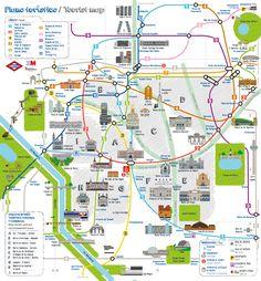 Nuevo mapa turístico del metro de Madrid.