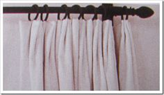 These are the top pinch pleat curtains Maria mentioned - and put one right one the right of the bracket