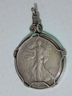 how to wire wrap a coin pendant - Google Search