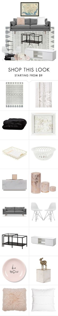 """""""My Next Living Room"""" by lilmissbriteyes ❤ liked on Polyvore featuring interior, interiors, interior design, home, home decor, interior decorating, nuLOOM, Anthropologie, Olivier Desforges and Laura Ashley"""