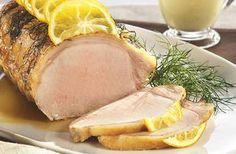La Longe de porc, coulis de fenouil, huile d'olive et citron, une autre façon de savourer le porc du Québec.