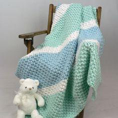 Knitting Patterns Galore - Soften His World Baby Blanket