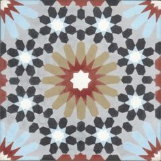 Moroccan Encaustic Cement Pattern Pre Sealed 23c