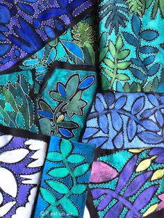 il est un air: Peinture sur textile et broderies