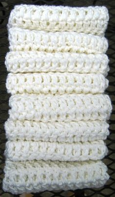 Crochet Cotton Washcloths or Dishcloths by HandmadeByAnnabelle