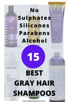 Grey Hair Conditioner, Natural Shampoo And Conditioner, Shampoo For Gray Hair, Purple Shampoo, Hair Shampoo, Grey Curly Hair, Silver Grey Hair, Curly Hair Styles, Curly Girl
