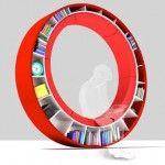 Libreria circolare circular bookshelf di Zhdanova Irina