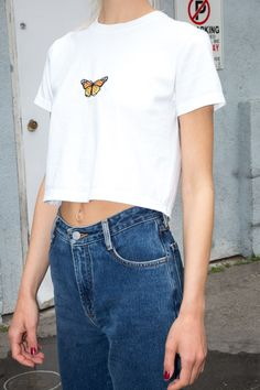 Helen Butterfly Top - Embroidery - Graphics - - Source by Crop Top Outfits, Retro Outfits, Outfits For Teens, Summer Outfits, Vintage Outfits, Girl Outfits, Cute Outfits, Fashion Outfits, Jamaica Outfits