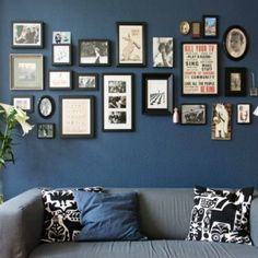 Living room Gallery Wall Idea for over the couch