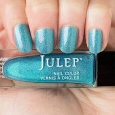 NEW! Julep nail polish HALLIE Vernis ~ Baby blue liquid holographic #Julep