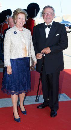 Reyes Constantino II y Ana Maria, en el concierto por el cumpleaños del principe Henrik de Dinamarca
