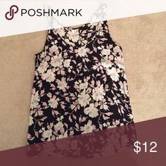 Floral Tank Top Beautiful multicolor floral tank top. Only worn once and no signs of wear. 100% Rayon Frenchi Tops