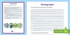 Take the stress out of lesson planning with Twinkl's Australian teaching resources and activities. Made for EYLF to Year 6 and covering all core subjects. Homographs, Handwriting Activities, English Resources, Year 6, Australian Curriculum, Activity Sheets, Classroom Displays, Stressed Out, Phonics