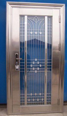 SHUT THE FRONT DOOR!!!  Art deco door in polished nickel, this would look great as a front door!
