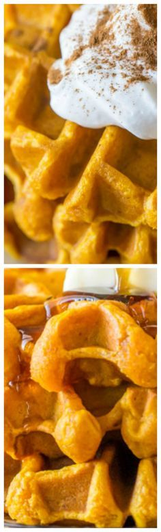 Pumpkin Spice Waffles ~ Moist and fluffy, with a nice crisp exterior.