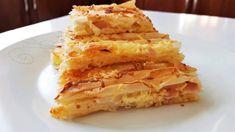 Η συνταγή είναι από το κανάλι Sotiria amor    Υλικά    -6 έως 8 φύλλα κρούστας (ανάλογα το μέγεθος του ταψιού)  -300γρ μιξ τυριών  -5 φέτες καπνιστή γαλοπούλα    για τον χυλό  -1κτσ. αλεύρι  -1κτγ. μπέικιν πάουτερ  -220ml γάλα ή 1 κούπα γεμάτη  -50ml ηλιέλαιο ή 1/3 Cookbook Recipes, Cooking Recipes, Onion Rings, Greek Recipes, Apple Pie, Macaroni And Cheese, Waffles, Breakfast, Ethnic Recipes