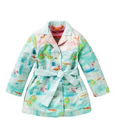 Another great find on #zulily! Blue Ciske Trench Coat - Girls by Oilily #zulilyfinds