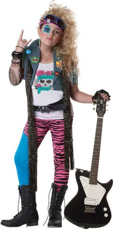 80s glam rockstar costume I remember dressing up like this!