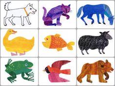 Brown Bear, Brown Bear, what did you see? Eric Carle, Book Activities, Toddler Activities, Brown Bear Activities, Sequencing Activities, Brown Bear Book, Bear Clipart, Bear Character, Album Jeunesse