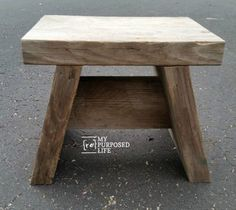 a tutorial to show you how to make a small step stool for your master closet, kitchen, and more.