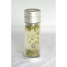 9.0 oz Thermal Double Walled Glass Water Bottle w/ Steel Filter. Made for Loose Leaf Tea Drinkers!