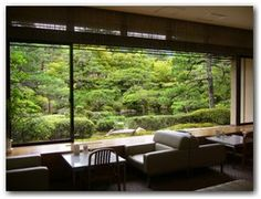 The waiting room with the view of the garden landscape, kyoto