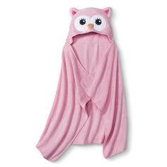 I'm learning all about Circo Newborn Girls' Hooded Owl Towel Wrap - Pink at Baby Girl Fashion, Kids Fashion, Towel Wrap, Baby Towel, Baby Disney, Cute Babies, Hoods, New Baby Products