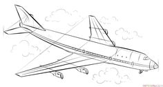 How to draw an airplane | Step by step Drawing tutorials