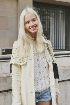 Sasha Luss after Miu Miu Spring 2014, Paris