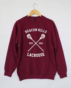Beacon Hills Lacrosse Sweatshirt. Beacon Hills Sweatshirt. Beacon Hills Lacrosse Sweater. Beacon Hills Lacrosse Jumper. by domugo on Etsy
