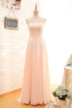 Cheap Sexy Open Back Vintage Blush Lace Bridesmaid Dresses