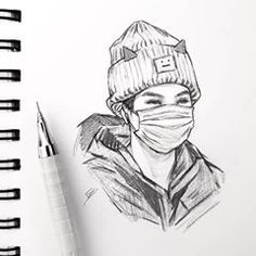 Image may contain: drawing Realistic Pencil Drawings, Pencil Art Drawings, Kpop Drawings, Art Drawings Sketches, Fan Art, Arte Lowrider, Art Drawings Beautiful, Bts Chibi, Kpop Fanart