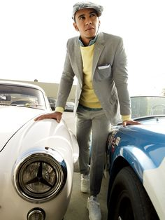 A sunny sweatshirt layered under your best gray suit. What To Wear Today 74348cee6